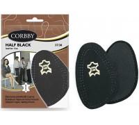Кожаные полустельки Corbby HALF white / black