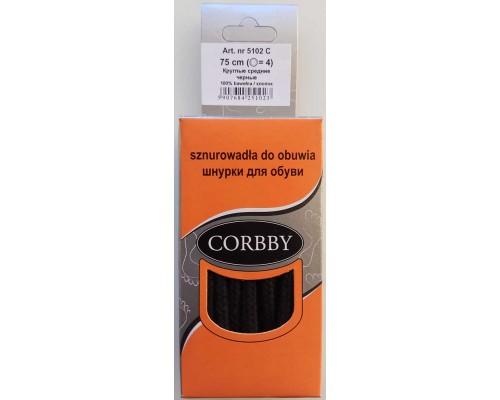Corbby шнурки круглые, средние 75 см