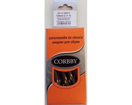 Corbby шнурки круглые, трекинговые 120 см