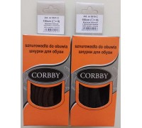 Шнурки толстые круглые 150 см Corbby