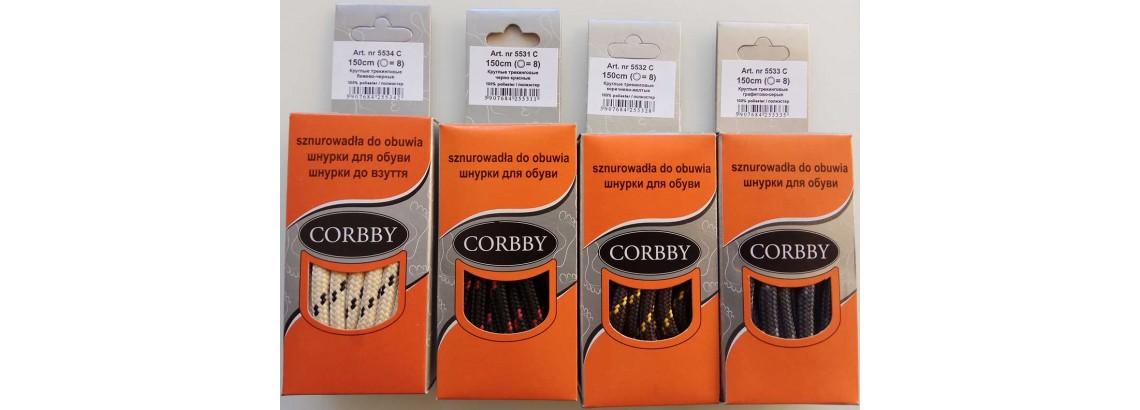 Шнурки трекинговые круглые 150 см Corbby