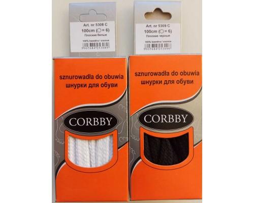 Corbby шнурки плоские 100 см