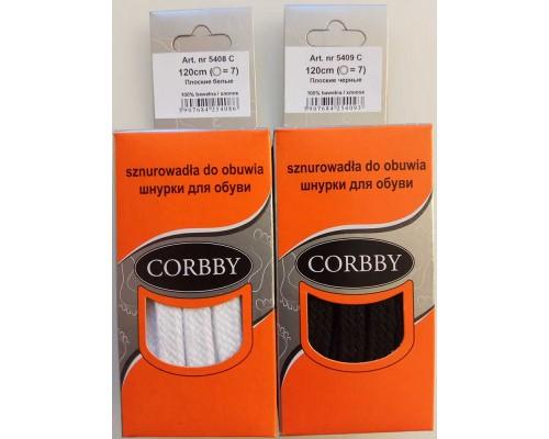 Corbby шнурки плоские 120 см