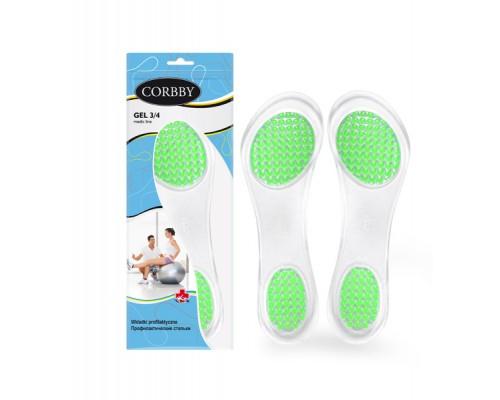 Corbby гелевые стельки GEL 3/4 для обуви на каблуках